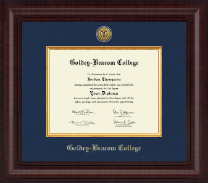Goldey-Beacom College Diploma Frame - Presidential Gold Engraved Diploma Frame in Premier