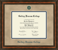 Goldey-Beacom College Diploma Frame - Heirloom Edition Diploma Frame in Ashford
