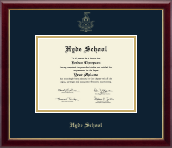 Hyde School Diploma Frame - Gold Embossed Diploma Frame in Galleria