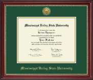 Mississippi Valley State University Diploma Frame - Gold Engraved Medallion Diploma Frame in Kensington Gold
