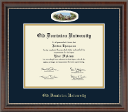 Old Dominion University Diploma Frame - Campus Cameo Diploma Frame in Chateau