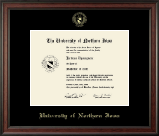University of Northern Iowa Diploma Frame - Gold Embossed Diploma Frame in Studio