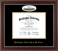 Washington University in St. Louis Diploma Frame - Campus Cameo Diploma Frame in Chateau