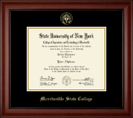 Morrisville State College Diploma Frame - Gold Embossed Diploma Frame in Cambridge
