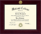 Midland College Diploma Frame - Century Gold Engraved Diploma Frame in Cordova