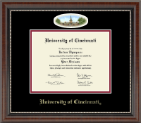 University of Cincinnati Diploma Frame - Campus Cameo Diploma Frame in Chateau