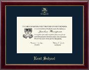 Kent School in Connecticut Diploma Frame - Gold Embossed Diploma Frame in Gallery