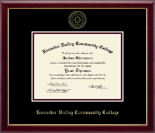 Kennebec Valley Community College Diploma Frame - Gold Embossed Diploma Frame in Galleria