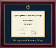 Quinsigamond Community College Diploma Frame - Gold Embossed Diploma Frame in Gallery