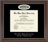 The Ohio State University Diploma Frame - Campus Cameo Diploma Frame - Ohio Stadium in Chateau