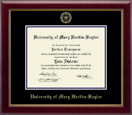 University of Mary Hardin Baylor Diploma Frame - Gold Embossed Diploma Frame in Gallery