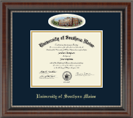 University of Southern Maine Diploma Frame - Campus Cameo Diploma Frame - Portland in Chateau