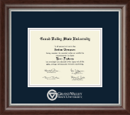Grand Valley State University Diploma Frame - Silver Embossed Diploma Frame in Devonshire