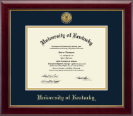 University of Kentucky Diploma Frame - Gold Engraved Medallion Diploma Frame in Gallery
