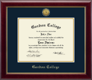 Gordon College in Georgia Diploma Frame - Gold Engraved Medallion Diploma Frame in Gallery