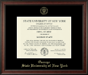 State University of New York at Oswego Diploma Frame - Gold Embossed Diploma Frame in Studio
