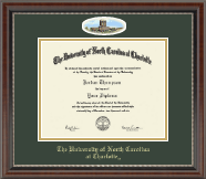 The University of North Carolina Charlotte Diploma Frame - Campus Cameo Diploma Frame in Chateau