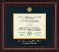 State University of New York - College at Oneonta Diploma Frame - Presidential Gold Engraved Diploma Frame in Premier