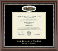 State University of New York - College at Oneonta Diploma Frame - Campus Cameo Diploma Frame in Chateau
