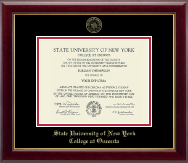 State University of New York - College at Oneonta Diploma Frame - Gold Embossed Diploma Frame in Gallery