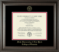 State University of New York - College at Oneonta Diploma Frame - Gold Embossed Diploma Frame in Acadia