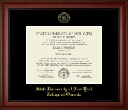 State University of New York - College at Oneonta Diploma Frame - Gold Embossed Diploma Frame in Cambridge