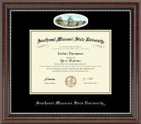 Southeast Missouri State University Diploma Frame - Campus Cameo Diploma Frame in Chateau