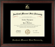 Southeast Missouri State University Diploma Frame - Gold Embossed Diploma Frame in Studio