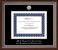 Mold Inspection Consulting and Remediation Organization Certificate Frame - Silver Engraved Medallion Certificate Frame in Devonshire