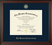 The Boston Conservatory Diploma Frame - Gold Embossed Diploma Frame in Studio