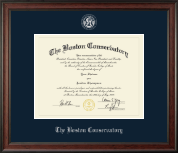 The Boston Conservatory Diploma Frame - Silver Embossed Diploma Frame in Studio