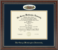 The George Washington University Diploma Frame - Law - Campus Cameo Diploma Frame in Chateau