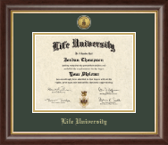 Life University Diploma Frame - Gold Engraved Medallion Diploma Frame in Hampshire