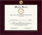 Mortar Board National College Senior Honor Society Certificate Frame - Century Gold Engraved Certificate Frame in Cordova