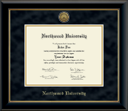 Northwood University in Michigan Diploma Frame - Gold Engraved Medallion Diploma Frame in Onyx Gold