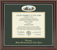 State University of New York at Oswego Diploma Frame - Campus Cameo Diploma Frame in Chateau