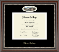 Hiram College Diploma Frame - Campus Cameo Diploma Frame in Chateau