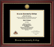 Broome Community College Diploma Frame - Gold Engraved Medallion Diploma Frame in Kensington Gold