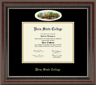 Peru State College Diploma Frame - Campus Cameo Diploma Frame in Chateau