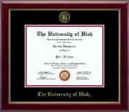 The University of Utah Diploma Frame - Gold Embossed Diploma Frame in Gallery
