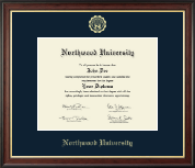 Northwood University in Michigan Diploma Frame - Gold Embossed Diploma Frame in Studio Gold