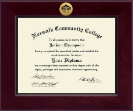 Norwalk Community College Diploma Frame - Century Gold Engraved Diploma Frame in Cordova