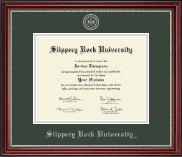 Slippery Rock University Diploma Frame - Silver Embossed Diploma Frame in Kensington Silver