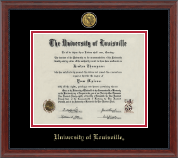 University of Louisville Diploma Frame - Gold Engraved Diploma Frame in Signature