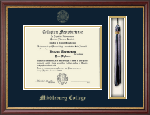 Middlebury College Diploma Frame - Tassel Edition Diploma Frame in Newport