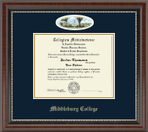 Middlebury College Diploma Frame - Campus Cameo Diploma Frame in Chateau