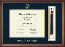 Marian University in Wisconsin Diploma Frame - Tassel Edition Diploma Frame in Newport