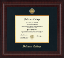 Defiance College Diploma Frame - Presidential Gold Engraved Diploma Frame in Premier