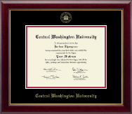 Central Washington University Diploma Frame - Gold Embossed Diploma Frame in Gallery