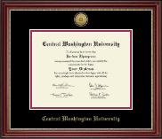 Central Washington University Diploma Frame - Gold Engraved Medallion Diploma Frame in Kensington Gold